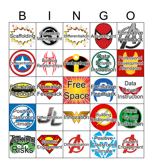 Lawrence Super Teacher Bingo Card