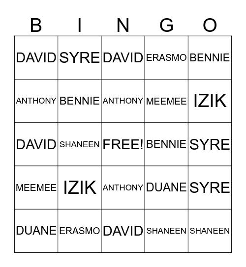 EYESENDIT Bingo Card