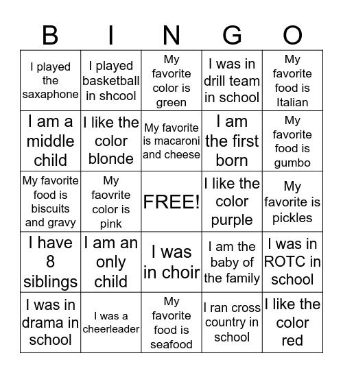 Parkdale people Bingo Card