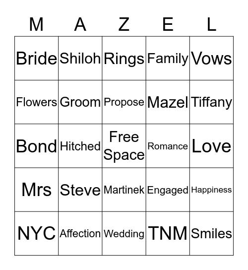 MARTINEK Bingo Card
