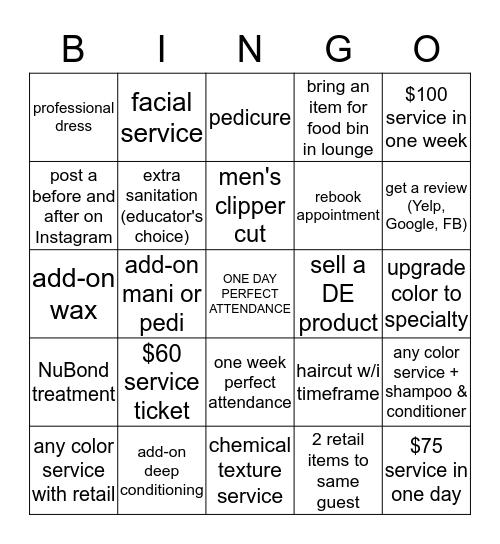Regency Bingo Card