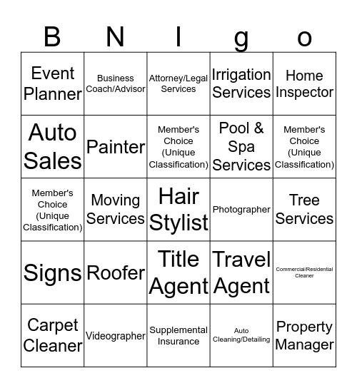 BNI HRBB BNIGO Bingo Card