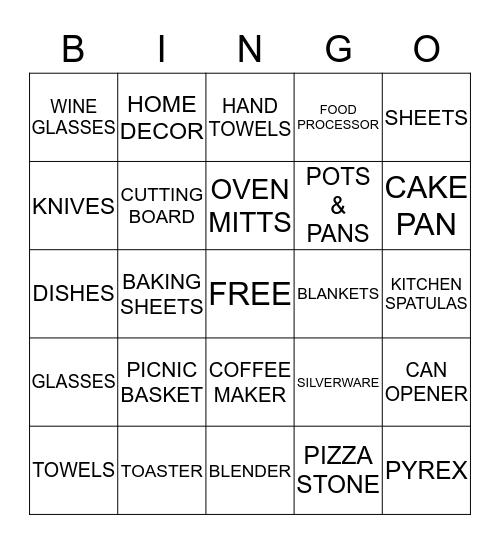 Shelby & Greg Wedding Shower Bingo Card