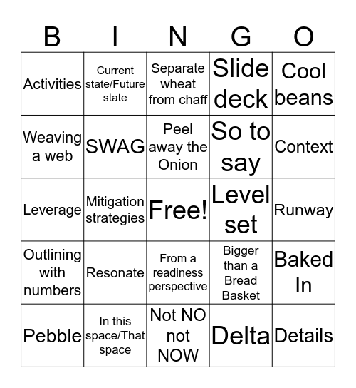 JC Bingo Card