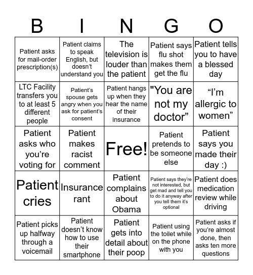 Aureus Bingo Card