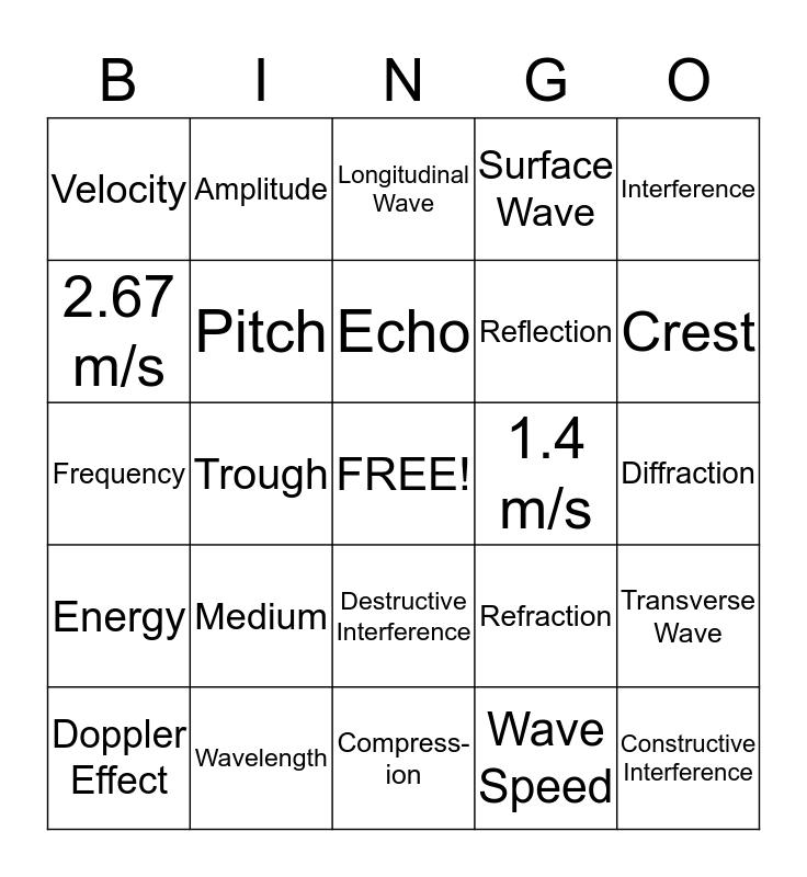 Wave Bingo Card
