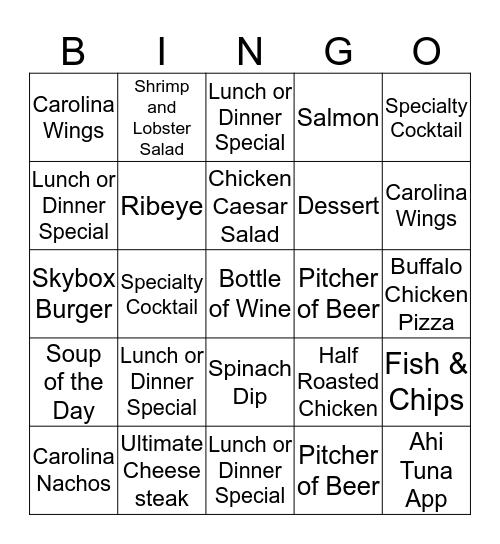 Skybox Upselling Challenge Bingo Card