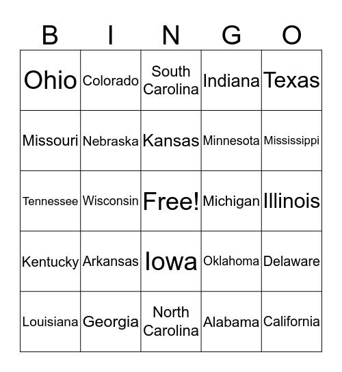 License Plate Bingo (Whole Country) Bingo Card