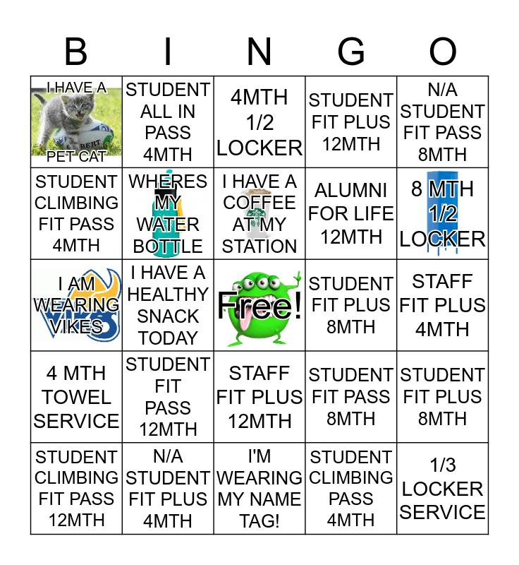 Membership Services Reg Week Bingo Card