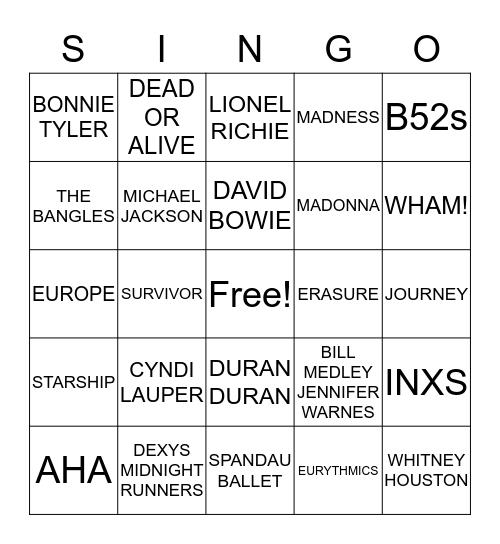 ROUND TWO Bingo Card