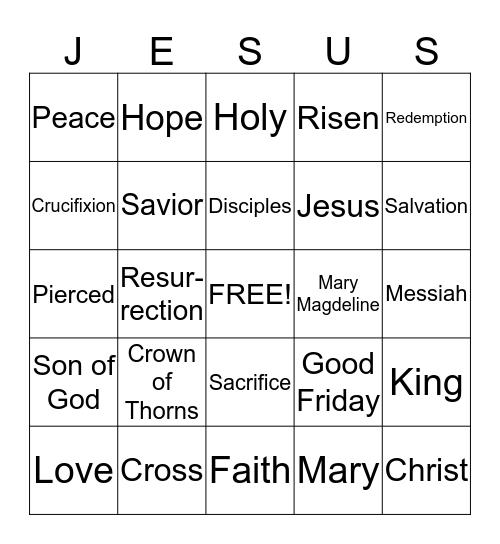 Easter Bingo! Bingo Card