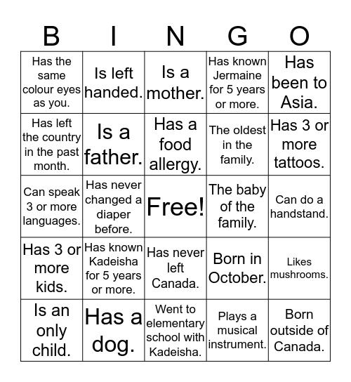 King of the Jungle Bingo!!! Bingo Card