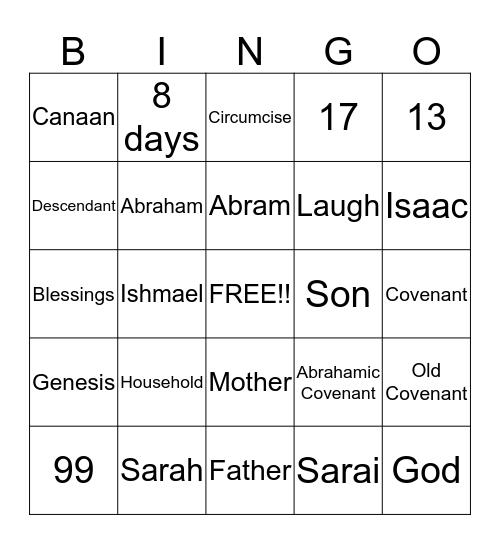 Abrahamic Covenant Bingo!! Bingo Card