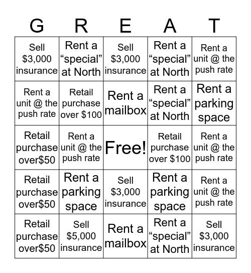 WESLEY Bingo Card