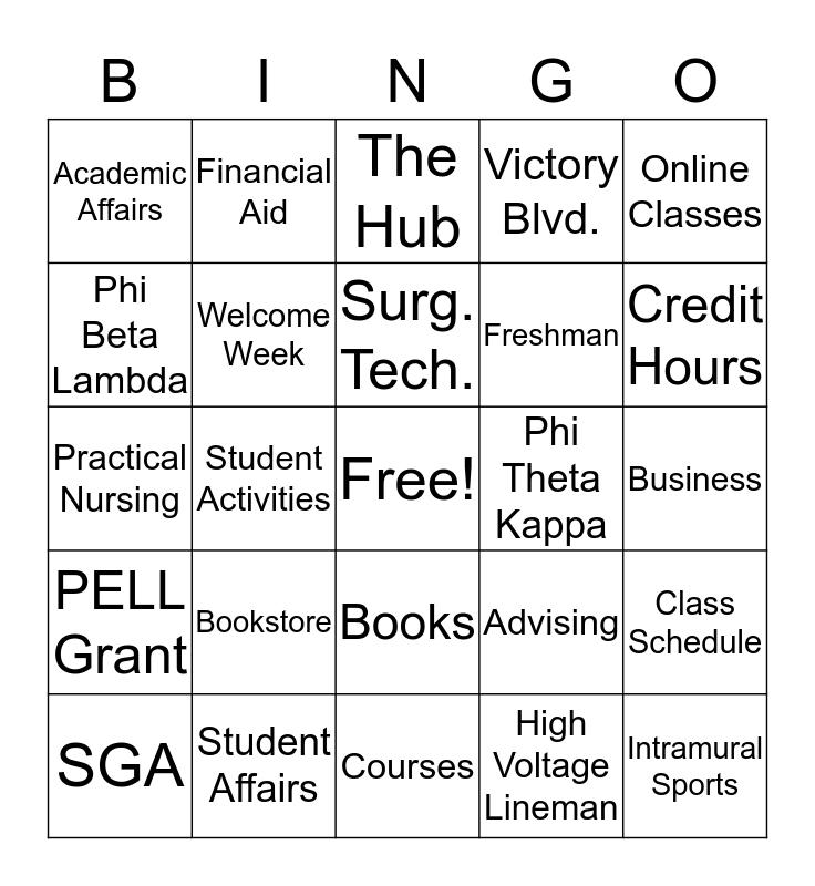 Welcome Back to ASUN Bingo! Bingo Card