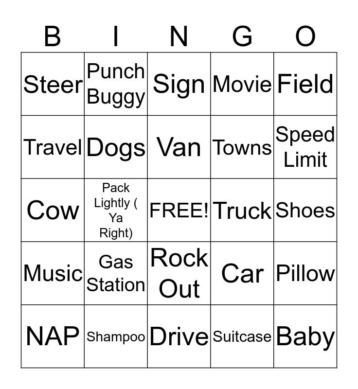 My Travel Bingo Card