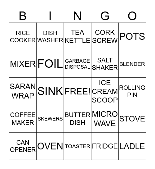 HILLBILLY BINGO Card