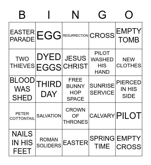 GOOD FRIDAY AND HAPPY EASTER BINGO! Bingo Card