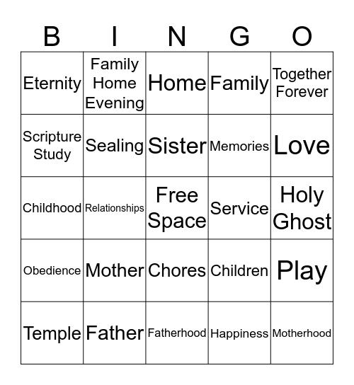 Strengthen Family Bingo Card