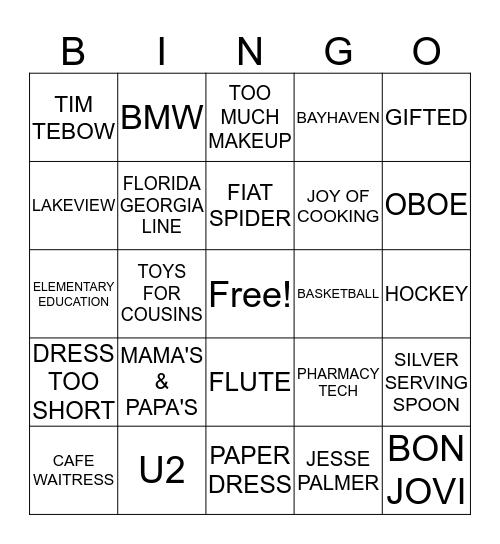 HOW WELL DO YOU KNOW REVA Bingo Card