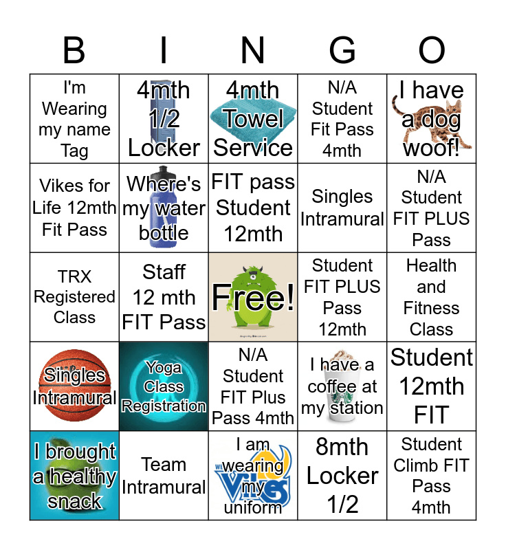 Membership Services Bingo Card