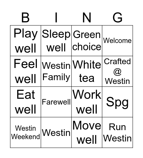 Front office Bingo  Bingo Card