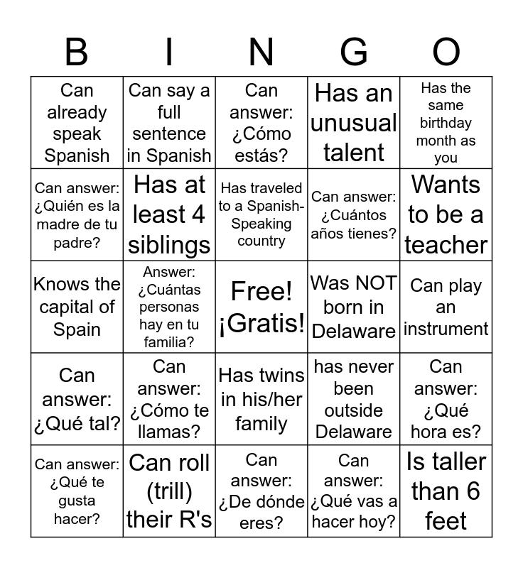 ¿Quién? Bingo Card