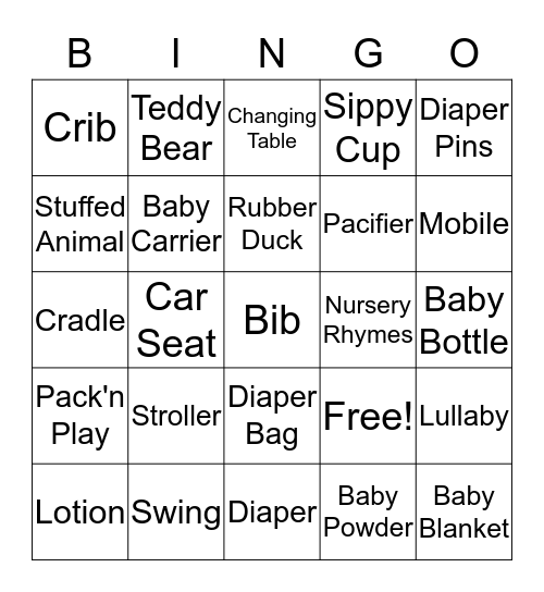 Baby Katzman  Bingo Card