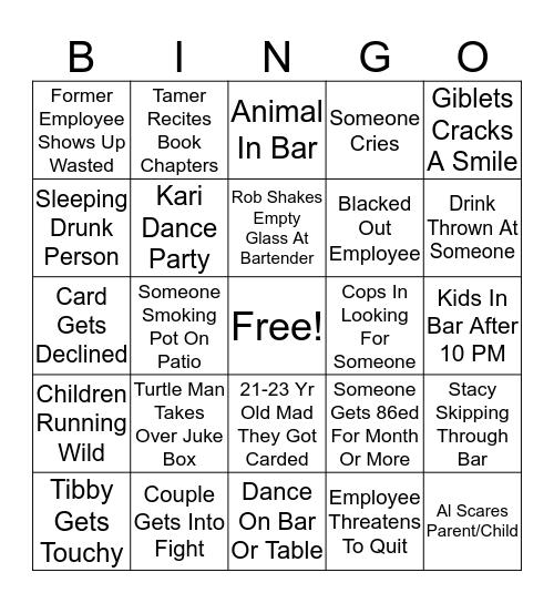 D J J D Bingo Card