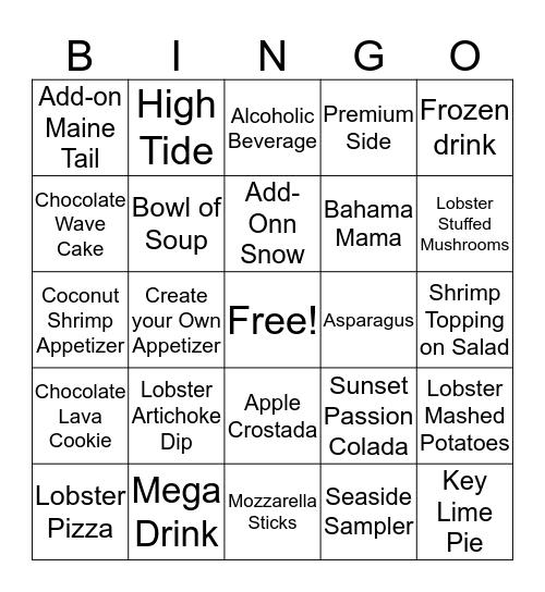 Lobster Bingo Card