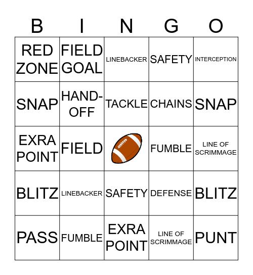 TAILGATE BINGO! Bingo Card