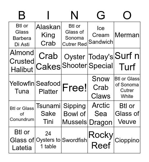 $50/$35/$25/$15                    Name: Bingo Card