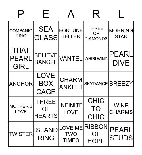 I GOT PEARLS! Bingo Card