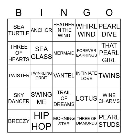 I GOT PEARLS Bingo Card