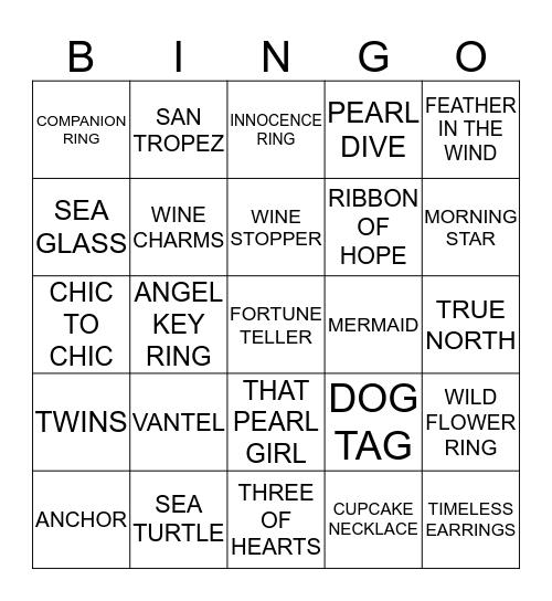 LUCKY PEARL Bingo Card