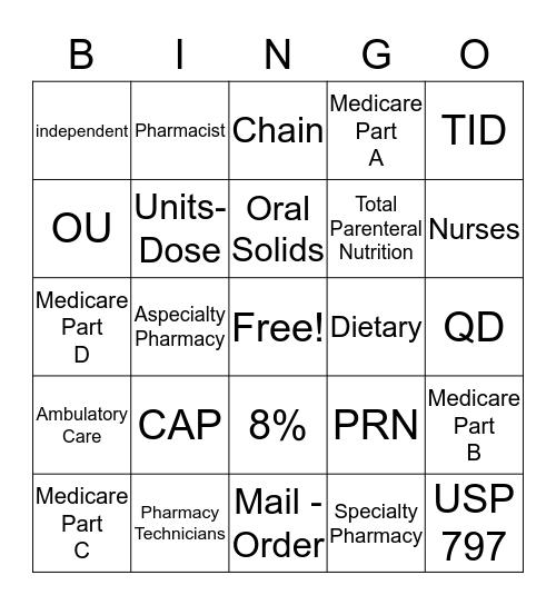Bingo Chapter 2- 6 Bingo Card