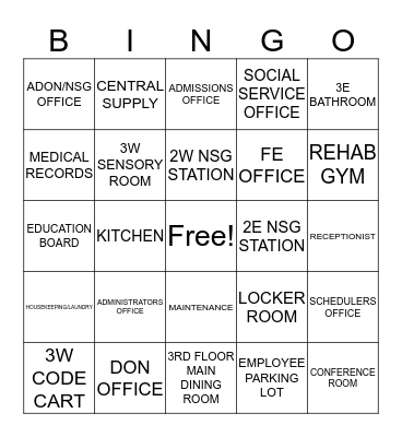 Care One at Randolph Bingo Card