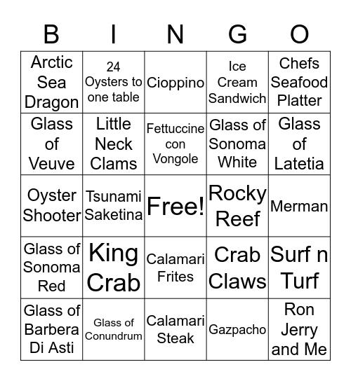 Saturday Night Bingo $30/$20/$10 Bingo Card