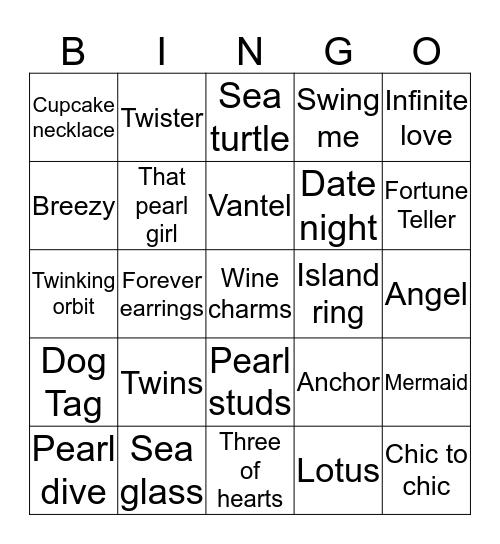 Pearl bingo Card