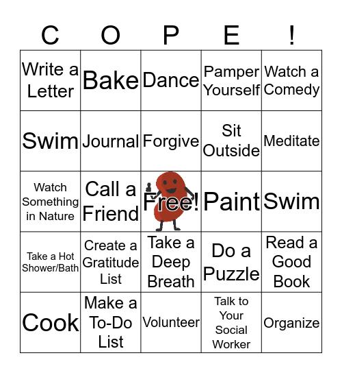 Coping with Kidney Disease Bingo Card