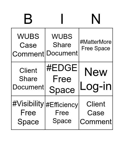 #EDGE Bingo Card