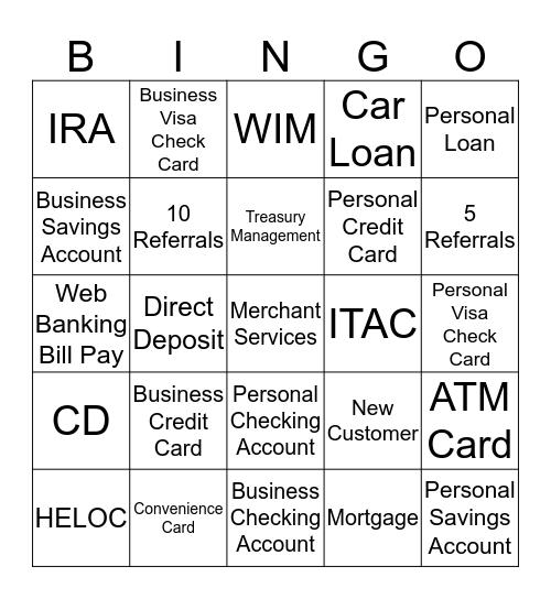 Gale Force 12 Referral Bingo Card