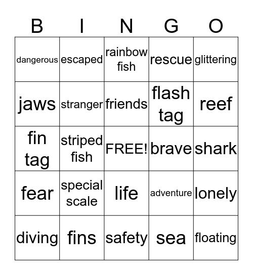 Sea Bingo Card