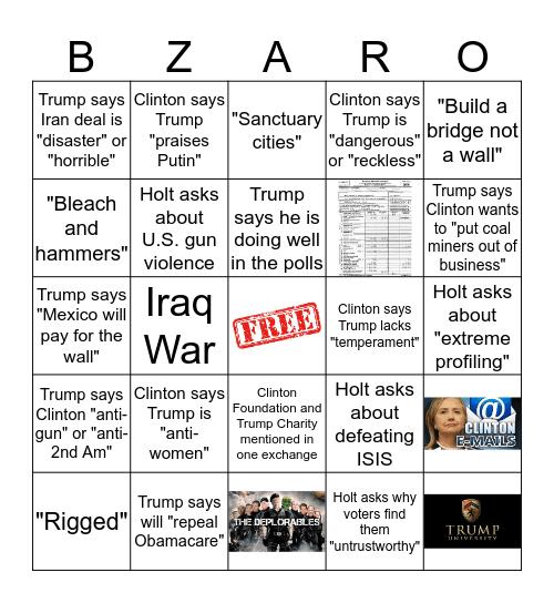 B  I  Z  A  R  R  O Bingo Card