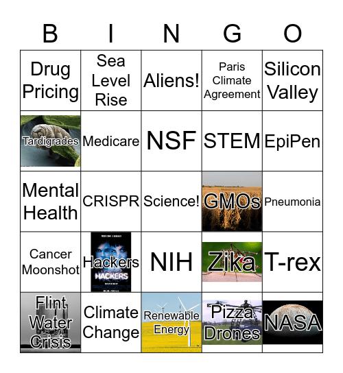 Science Debate Bingo Card