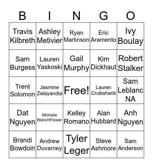 SRR Bingo Card