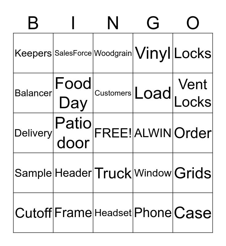 Window Bingo Card