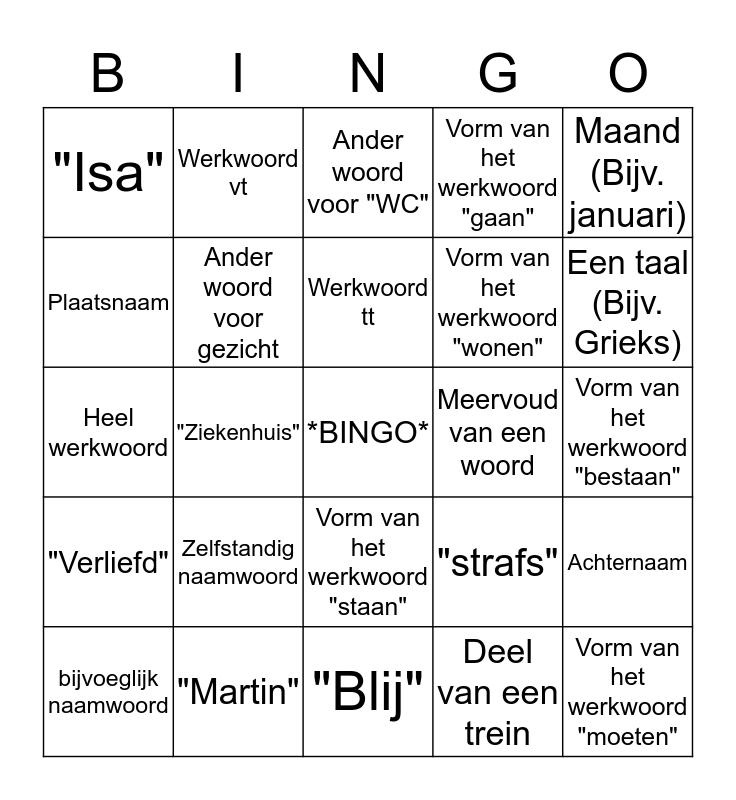 Helden Bingo Card