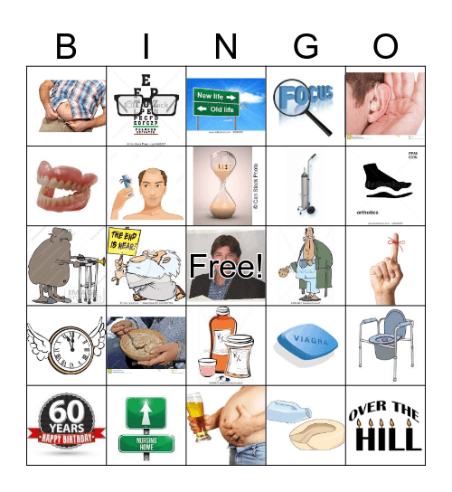 Happy 60th Birthday, Michael! Bingo Card