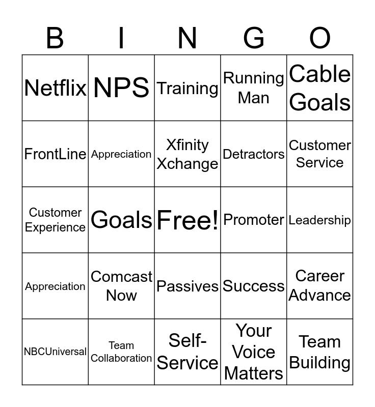 Team Work Bingo Card